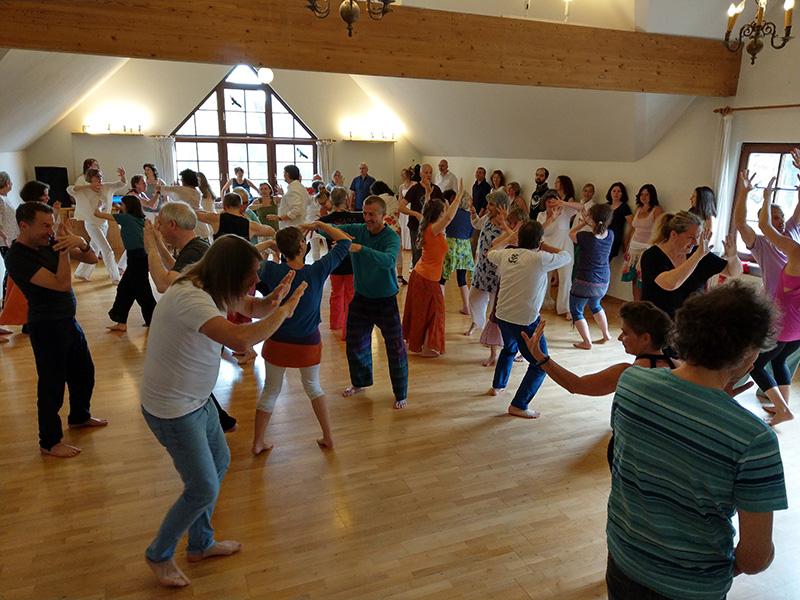12. Alegria Biodanza Festival am Main, die Gruppe tanzt