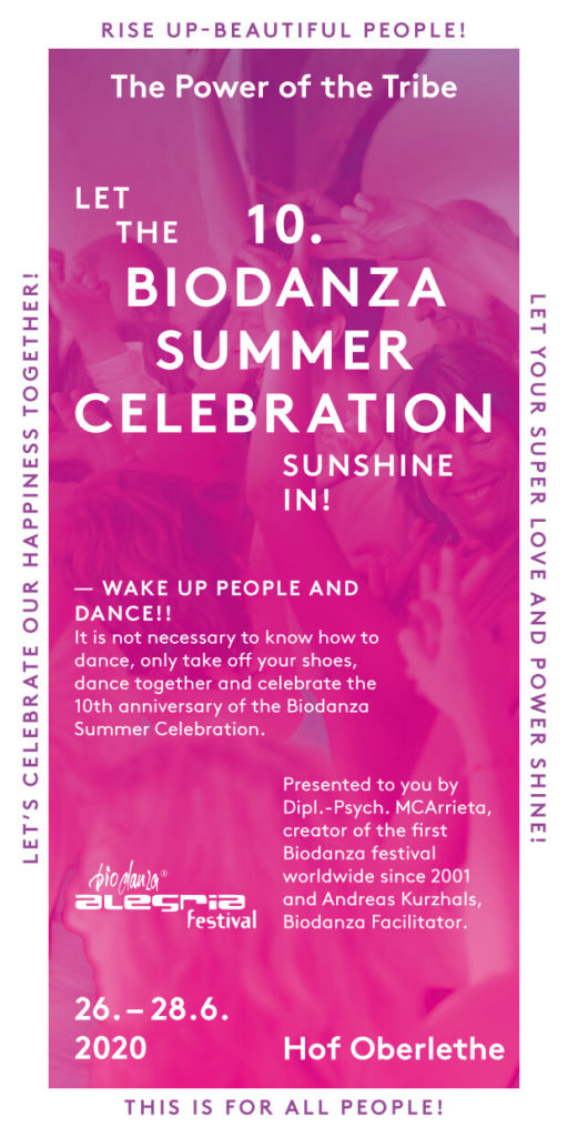 Biodanza Summer Celebration Flyer 2020
