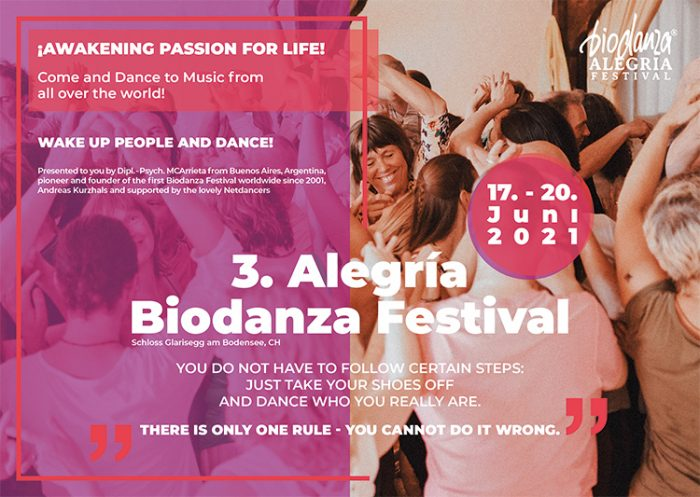 Flyer Biodanza Festival Glarisegg